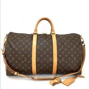 Louis Vuitton Monogram Keepall Bandouliere 50 Bag